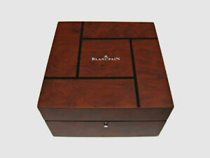 BLANCPAIN Wooden Watch Case Storage w/ Outer Box & Booklets New