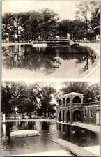 Multi View of Municipal Swimming Pool Olney IL Vintage Postcard S05