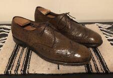 Vintage Mens ALLEN EDMONDS Nassau Genuine Sharkskin Wingtip Dress Shoes Sz 12 D