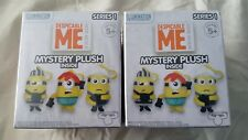 """LOT OF 2 DESPICABLE ME MINIONS 3"""" MYSTERY PLUSH~SERIES 1~ AGES 5+~NEW IN PACKAGE"""