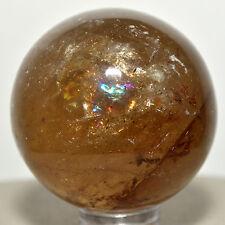 39mm Rainbow Morion Smoky Quartz Sphere Natural Sparkling Crystal - Madagascar
