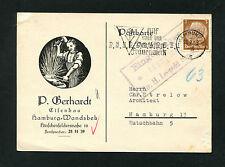 Dt. Reich Firmenkarte Hamburg, Eisenbau  1940  (NX-184)