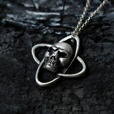 Encanto cruz de tono Plata Collar Colgante Gargantilla de Cuero Negro Halloween Gótico