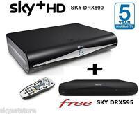 SKY PLUS +HD BOX AMSTRAD/SKY DRX890 **500GB** PLUS A FREE MULTIROOM DRX595 BOX