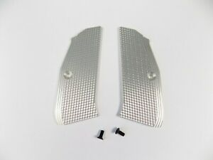 ZENDL® CZ 75 High Quality Grooved Grips - Made in Czech Republic - SILVER