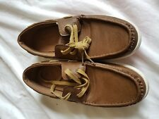 MENS HU BROWN BOAT/DECK SHOES SIZE 8