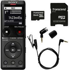 Sony ICD-UX570 Digital Voice Recorder (Black) + Olympus ME-52W Mic + 32GB Memory