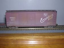 ACCURAIL #3006  C.B.& Q. 40' D.D.Box Car #9353 Built-up & Weathered H.O.Gauge