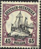 Deutsch-Ostafrika 36 geprüft mit Falz 1906 Schiff Kaiseryacht Hohenzollern
