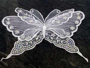 Butterfly Large Sequined Applique Embroidery Sew On Patch Dress Costume Craft