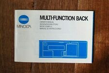 Minolta 35mm Slr Multi-function Back Instruction Manual