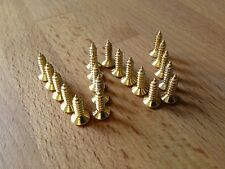 Cero Placa / de Pick guard / Tornillos X 20 chapado en oro, Trajes Tele, Strat, etc..