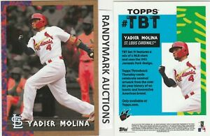 Yadier Molina CARDINALS TOPPS 2018 THROWBACK 1993 JURASSIC PARK TBT 116 SP 516
