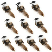 12PCS Robin Bird Christmas Tree Decoration Artificial Birds Clip On Xmas Garden