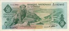 A SAISIR    CE   BILLET  CONGO      50 FRANCS   1962    !!!!    ASSEZ  RARE
