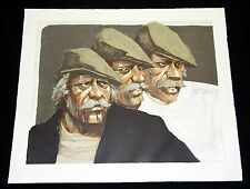 """1970s Argentina Litho Print 80/200 """"Three Faces of the Hawk""""by Aldo Luongo (Coo)"""