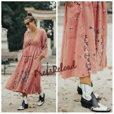 ZARA NEW EMBROIDERED LONG DRESS SIZE L