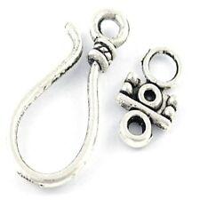 10 Sets 11x25mm Tibetan Silver Alloy S Toggles Clasps - A6394
