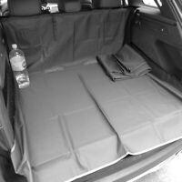 Heavy Duty Rear Seat Protector Pet Hammock Boot Trunk Liner Black & Black 3in1
