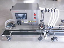 New Four heads full automatic liquid filling machine 10-500ml STAINLESS T