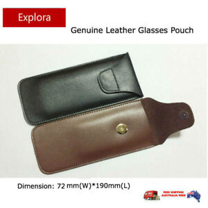 Genuine Leather Glasses Pouch Eyeglasses Reading, Spectacles, Sunglasses Case