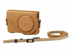 Sony LCJ-WD-TI Light Brown Camera Case with Shoulder Strap for DSC-WX300 WX350