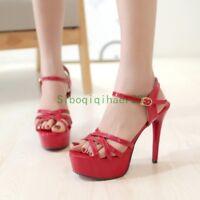 Womens Open Toe Platform High Heels Stiletto Heels Sandals Shoes Plus size Chic9