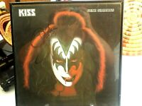 Autographed Kiss Gene Simmons Solo Album Framed