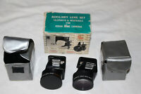 Focal AUXILIARY LENS SET for KODAK Disc Cameras Telephoto & Wide Angle + Cases