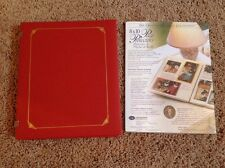 CREATIVE MEMORIES 8x10 RED OPEN SPINE ALBUM, HOLIDAY PAGES, PAGE PROTECTORS NEW!