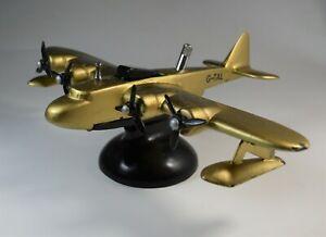 Airplane Desk Model Lighter Seaplane Cast Iron Parker Dunhill Flying Boat 1930