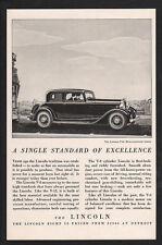 1932 LINCOLN V-8 5 Passenger Coupe Car $2900 from Detroit  VINTAGE ADVERTISEMENT
