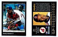 Sandy Alomar Jr. Signed 1993 Pinnacle #211 Card Cleveland Indians Auto Autograph