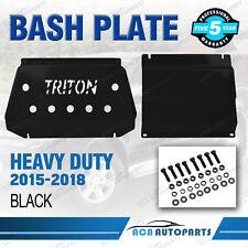 Front Sump Guard Protect Bash Plate for Mitsubishi Triton MQ 2015-2018  BLACK