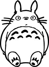 Ghibli Totoro Head Decal cute funny vinyl car truck window sticker