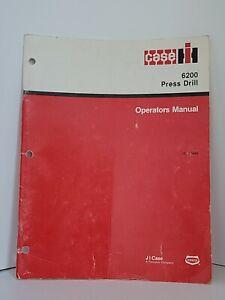Case IH 6200 Press Drill operators manual Farming Agricultural equipment book