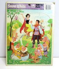 Vtg Snow White Disney Frame Tray Puzzle Golden 4510F-46