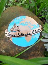 Rare Vespa Scooter - VESPA WORLD CLUB - Badge