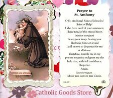 Prayer to Saint. Anthony - Scalloped trim - Paperstock Holy Card