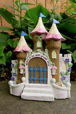 Mini Fairy Castle Resin Miniatures Decor New Fairie Village Princess Fairies