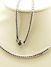 18k Solid White Gold Polished Snake Necklace/ Chain 8.28 Grams
