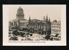 Caribbean Cuba HAVANA Capitol National Theatre Cunard Liners c1920/30s? RP PPC