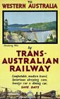 "Vintage Travel Poster CANVAS PRINT Australia Emu Aboriginal Art 24""X16"""
