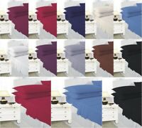 NEW 100% Poly Cotton Full Fitted Sheet Bed Sheets Single Double King Super King