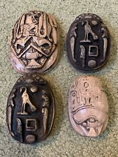 4 Resin SandStone egyptian Scarab Paperweight Egypt 1 3/4 Pounds 100% Authentic