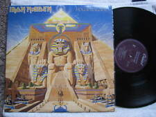 "IRON MAIDEN POWERSLAVE VINYL LP RECORDS 12"" PURPLE LABEL USA."
