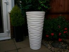 High Quality flower pot Sand Slim pots new design GARDEN PATIO Tall 62 cm  white
