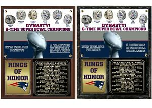 New England Patriots 6-Time Super Bowl Champions Rings of Honor Photo Plaque