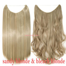 Curly Hair Piece Extensions Hidden Halos Invisible Wire Piece Secret Miracle USA