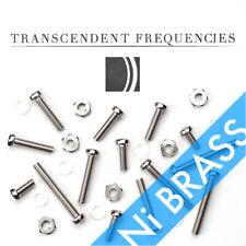 Ni PLATED BRASS Cartridge Headshell Mounting M2.6 Screws Hardware Set 6mm~20mm